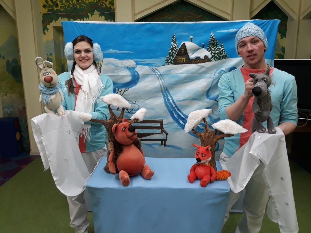 Зимний кукольный спектакль ;выездной зимний спектакль