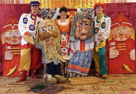 Выездной спектакл по сказкам Пушкина