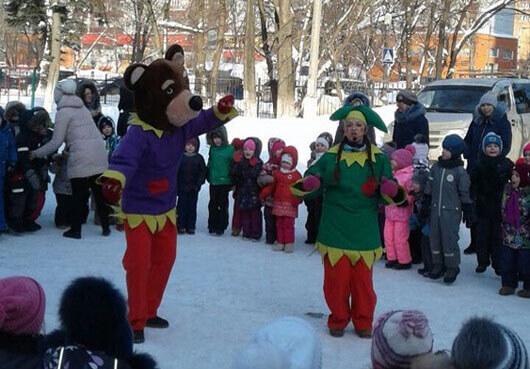 Программа уличная на Масленицу в детский сад